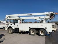 2007 Tandem Axle International with Lift-All Bucket - Odometer Shows 77,064+/- Miles - Engine Manufacturer: Maxxforce (International) - Vin#  1HTWGAZT48J560704 - Unit Make Model: Lift-All LM-65-2S Bucket - Hour Meter Shows 14,041+/- - 2