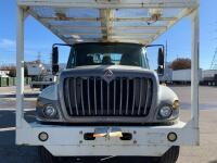 2007 Tandem Axle International with Lift-All Bucket - Odometer Shows 77,064+/- Miles - Engine Manufacturer: Maxxforce (International) - Vin#  1HTWGAZT48J560704 - Unit Make Model: Lift-All LM-65-2S Bucket - Hour Meter Shows 14,041+/- - 6