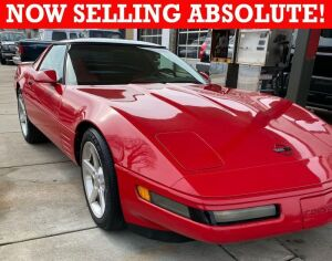 NOW SELLING ABSOLUTE! 1994 Chevy Red Corvette Coupe with Removable Top and Red Leather Interior, 5.7 LT1 Engine with 6 Speed Transmission, 129,000 +/- miles. Nice Stereo System with Boom Box Speaker. - VIN# 1G1YY22P9R5114346
