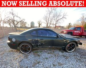 NOW SELLING ABSOLUTE! 2001 Ford Mustang Bullitt GT Coupe 4.6L V8 - 5 Speed Manual Transmission - Odometer reads 98,875 +/- miles - Owner seems to think it might need a new fuel pump