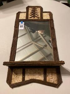 RUSTIC BARK AND TWIG MIRROR