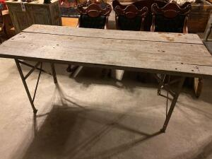 ANTIQUE INDUSTRIAL WORK SHOP TABLE