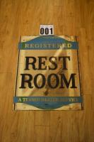 Texaco - Registered A Texaco Dealer Service Rest Room Sign Made in USA A-5-54