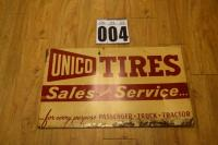 Unico Tires - Sales and Service sign