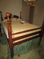 "Cherry Cannon Ball Bed 57H, 80W, 54D, (side rails 21"" off floor)"