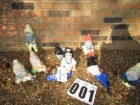 Snow White & 7 Dwarfs outside ornaments (some pieces concrete others ceramic