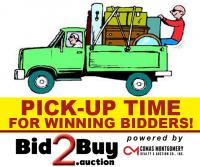 IMPORTANT: PICK-UP TIME FOR WINNING BIDDERS