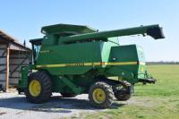 1997 John Deere 9410 Maximizer Combine. 2251 separator hours, 3264 engine hours. New rasp bars, new hydraulic pump, new fuel pump, new front tire, new clean grain paddles and chains on both sides, Ag Leader grain/yield monitor.