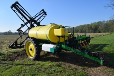 AG Spray 750 Gallon Sprayer with Raven Rate Controller. Pull type, 60' X-Fold boom, foamer, wash tank, hand wash tank, used three seasons, bought new