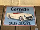 "CORVETTE SALES & SERVICE Sign- 12""x18"""