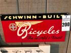 "SCHWINN-BUILT Sign- 10""x20"""