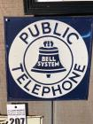 "PUBLIC TELEPHONE Sign- 11""x11"""