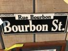 "BOURBON ST. Sign- 5""x15"""