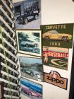 Collection of Pictures/ Signs- Corvettes, ZIPPO, BASEBALL, Etc.