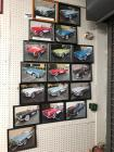 Collection of Various Framed Chevrolet Corvettes Pictures (17)