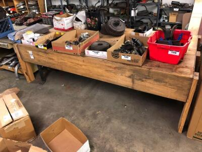"Heavy Duty Wooden Work Desk (Bring Own Help)- 30""T 101""W 49""D (Contents NOT Included)"