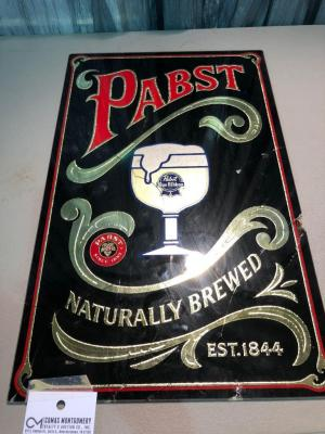 "PABST Naturally Brewed Beer Sign- 12""x20"""
