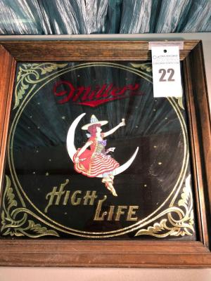 "MILLER High Life Beer Sign- 19""x19"""