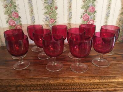 Red glass goblets-11