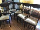 Dining room chairs, A