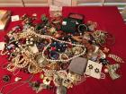 Huge Assortment of Jewelry - believed to be costume jewelry with necklaces, earrings, and more