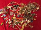 Huge Assortment of Jewelry - believed to be costume jewelry with necklaces, earrings, and watches