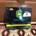 JOHN DEERE HO Scale Precision Railroad Models- Includes SD-70 Mac HO Scale Locomotive and Flat Car w/ 2 JOHN DEERE Tractors (Brand New In Box)